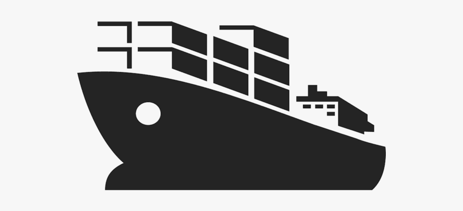 Cruise Clipart Cargo Ship - Cargo Ship Silhouette Png, Transparent Clipart