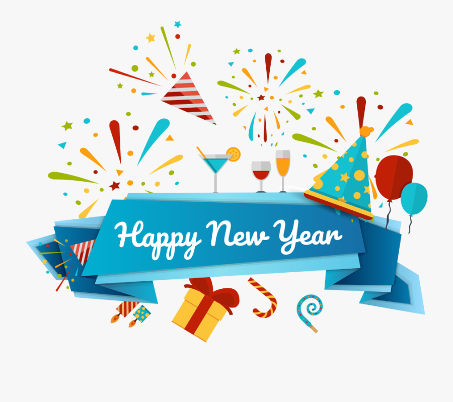 Happy New Year Png Image Free Download Searchpng - Happy New Year Png, Transparent Clipart