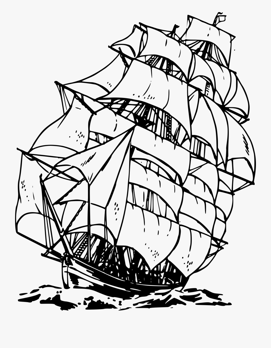 Pirate Ship Clipart Black And White Clipart Panda Free - Pirate Ship Clipart Black And White, Transparent Clipart