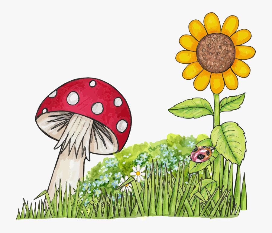 Nature - Clipart - ดอก เห็ด การ์ตูน Png, Transparent Clipart