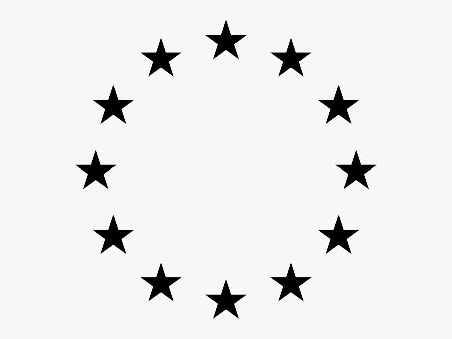 Black Circle Stars Svg Clip Arts - Logo Brasil Dream League Soccer 2018, Transparent Clipart