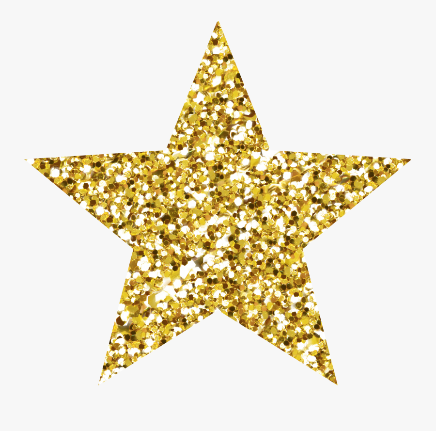 Glitter Gold Star Background - Glitter Gold Star Png, Transparent Clipart