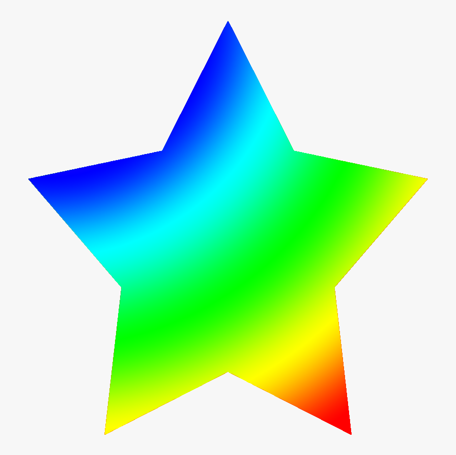 Rainbow Colored Star - Star Clip Art Colorful, Transparent Clipart