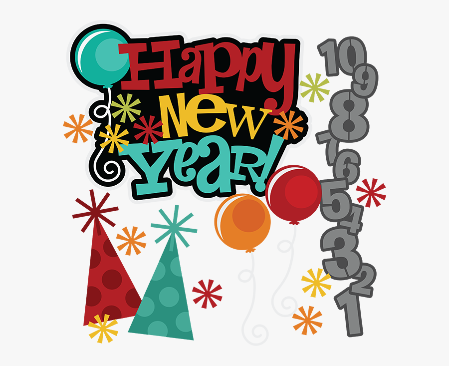 Happy New Year Scrapbooking, Transparent Clipart