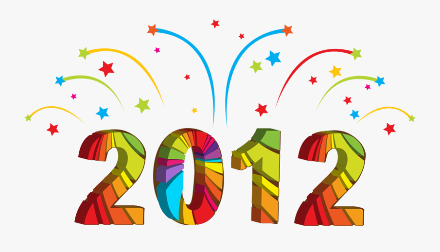 Outset - Clipart - Happy New Year 2012, Transparent Clipart