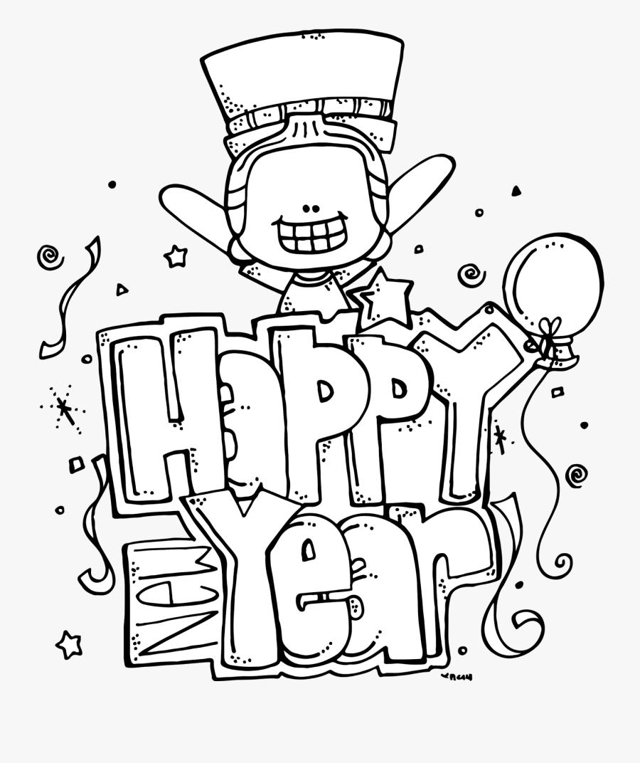 Melonheadz Happy New Year, Transparent Clipart