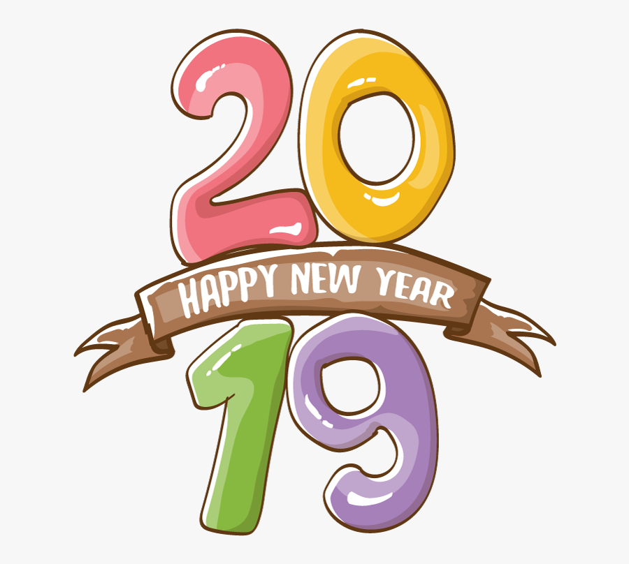 2019 Happy New Year 19 Vector - Graphic Design, Transparent Clipart