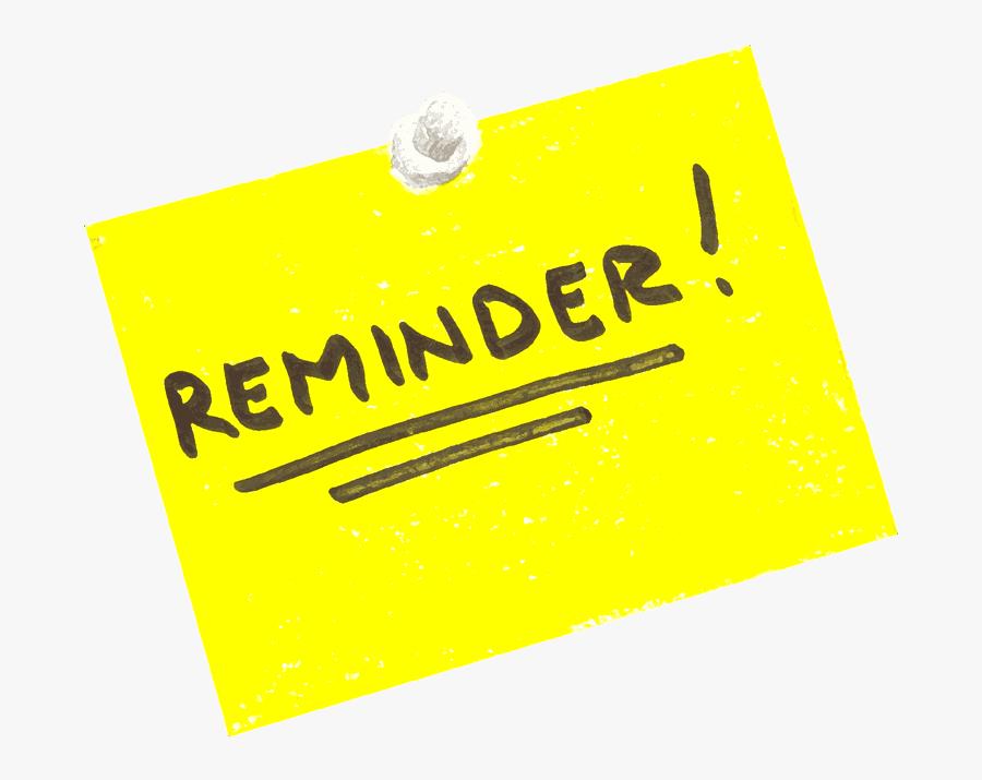 Free Meeting Reminder Transparent Images Plus Clip - Reminder Clip Art, Transparent Clipart