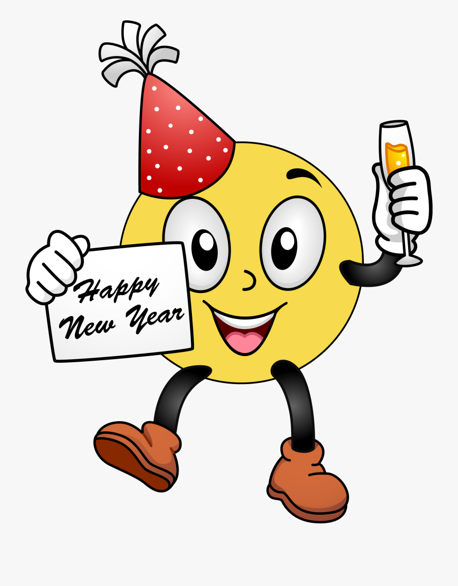 Year - Happy New Year 2019 Smiley, Transparent Clipart