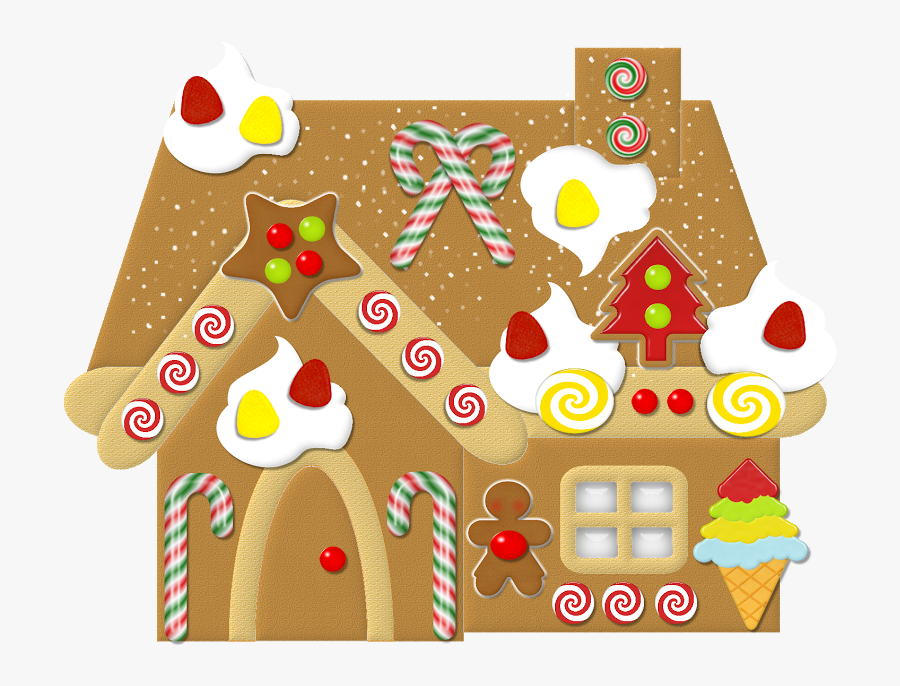 Gingerbread House Clipart Free, Transparent Clipart