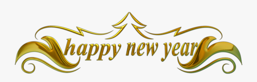 Clipart Happy New Year - Happy New Year Text Png, Transparent Clipart