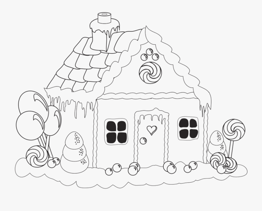 Thumb Image - Gingerbread House Drawing Easy, Transparent Clipart