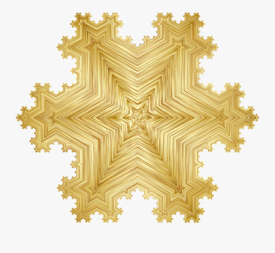 Symbol,symmetry,fractal Geometry Of Nature - Snowflake Fractal Koch, Transparent Clipart