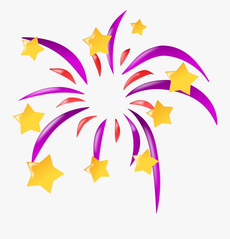 Firework Clip Art - New Year Icon, Transparent Clipart