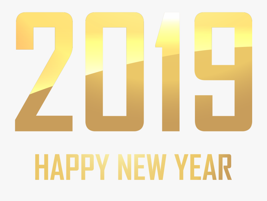 Happy New Year Gold Png, Transparent Clipart