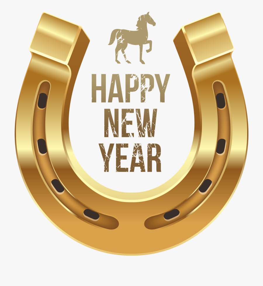 Happy New Year With Horse And Horseshoe Png Clipart - Happy New Year 2019 Hd, Transparent Clipart