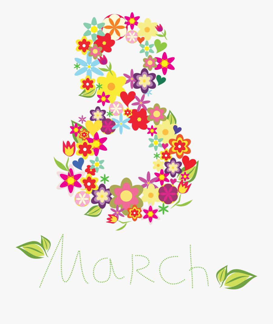 March Clipart Nature - Dia Internacional Da Mulher Arte, Transparent Clipart