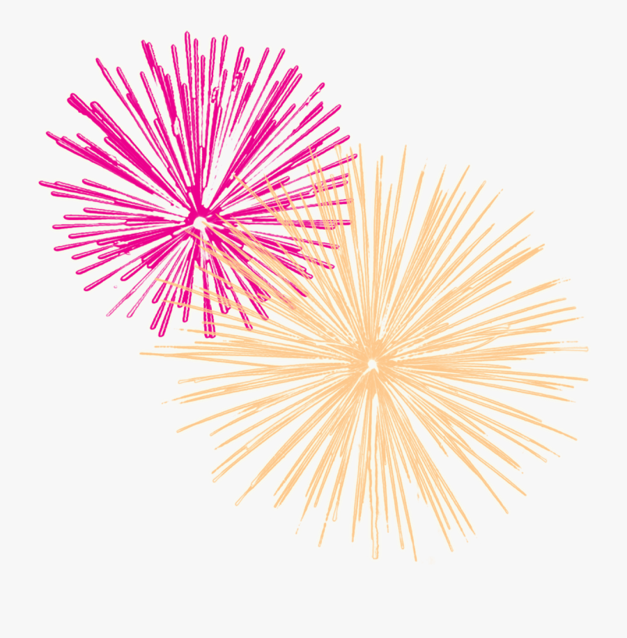 New Year Clipart Png - New Year Fireworks Clip Art, Transparent Clipart