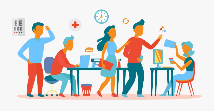 Office Teamwork Clipart , Png Download - Clip Art Office Team Work, Transparent Clipart