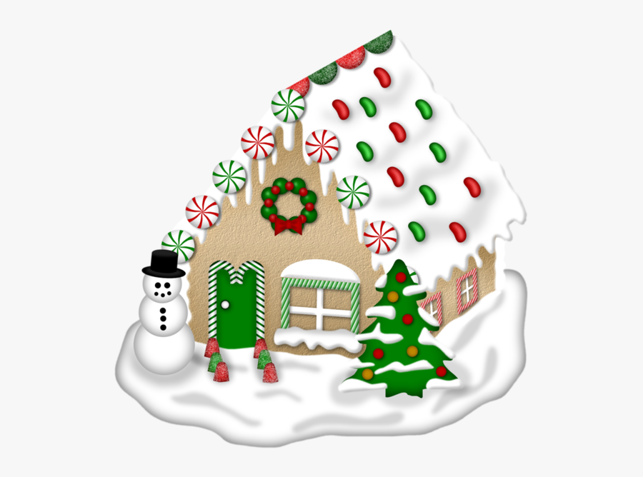 Transparent Gingerbread House Clipart - Christmas Day, Transparent Clipart