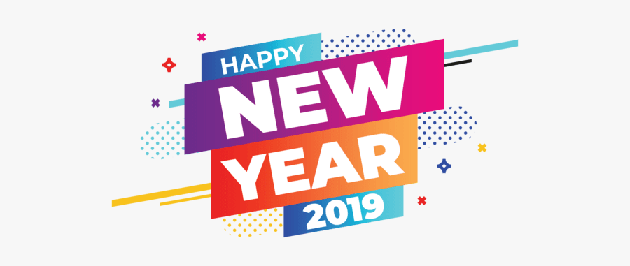 Happy New Year 2019 Banner Clip Arts - Happy New Year 2019 Png, Transparent Clipart