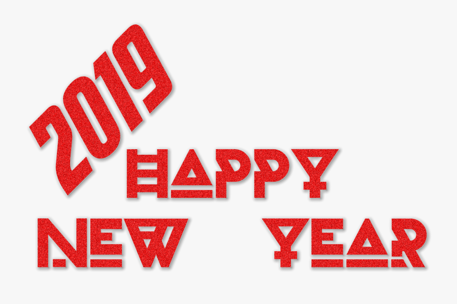 Happy New Year 2019 Transparent Image - Transparent New Year Happy 2019 Png, Transparent Clipart