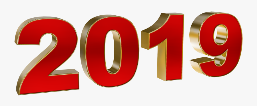 New Year 2019 Png, Transparent Clipart