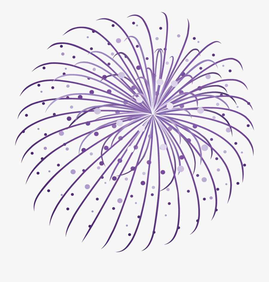Happy New Year Fireworks Clip Art - Firework Png, Transparent Clipart