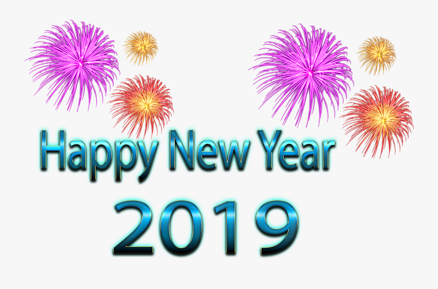 Transparent Free Happy New Year Clipart - Fireworks, Transparent Clipart