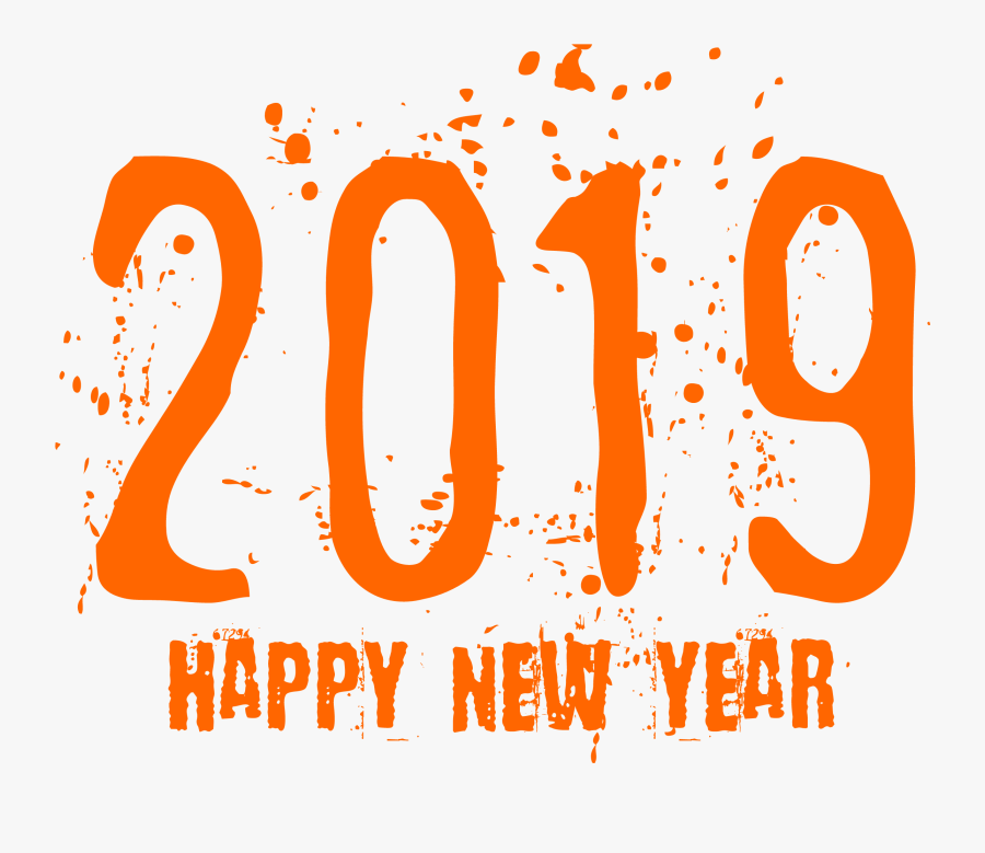 New Years Eve 2019 Clipart With Happy Year Transparent - Png Format 2019 Happy New Year Png, Transparent Clipart