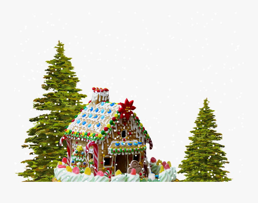 Christmas Gingerbread House Png, Transparent Clipart