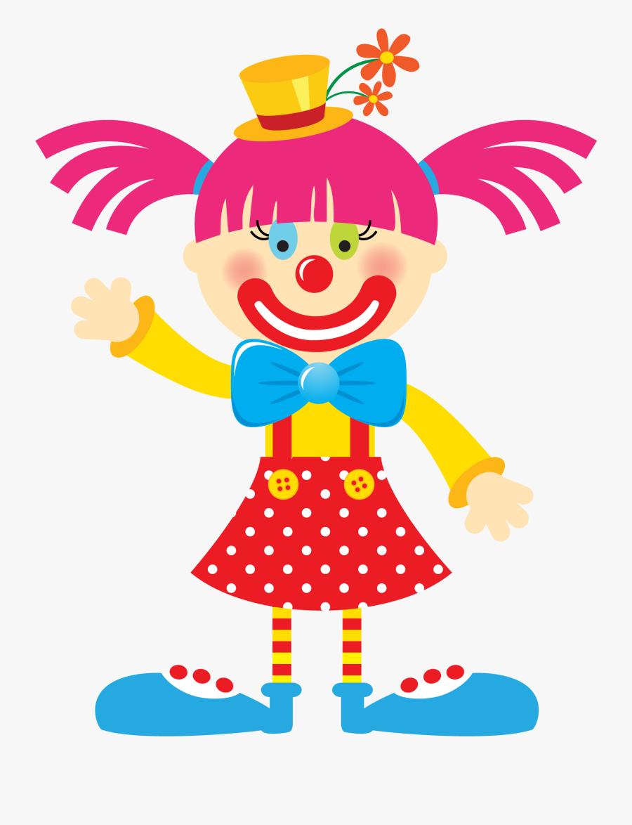 Circus Clipart Train - Girl Clown Clipart, Transparent Clipart