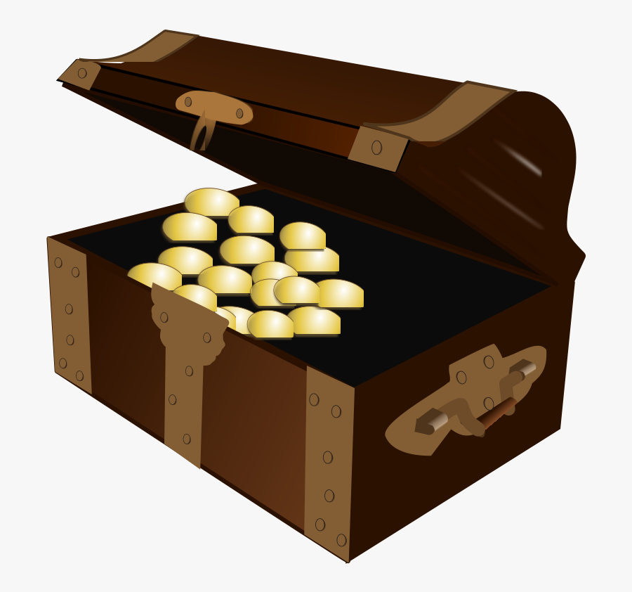 Treasure Chest - Cartoon Treasure Chest Png Open, Transparent Clipart