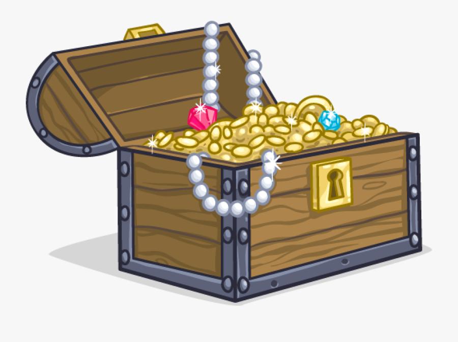 Clip Art Pics Of Treasure Chest - Cartoon Pirate Treasure Chest, Transparent Clipart
