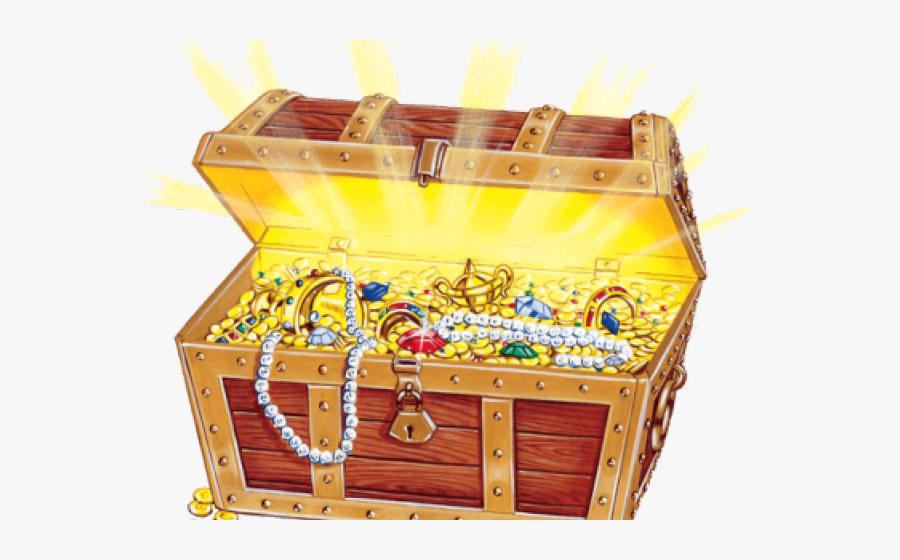 Transparent Treasure Chest Clipart - Treasure Hunt Box, Transparent Clipart