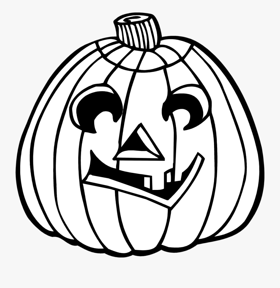 Transparent Pumpkin Png Black And White - Jack O Lantern Black And White Clipart, Transparent Clipart
