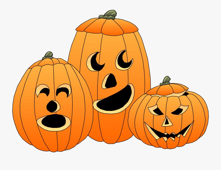 Halloween Pumpkins Clipart - Cute Jack O Lantern Clipart, Transparent Clipart