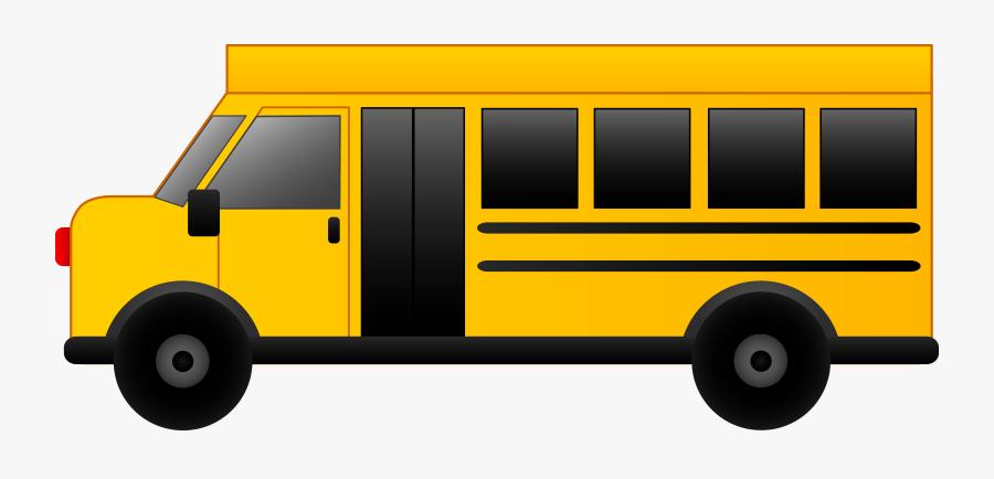 Transportation Clipart School Bus - Shuttle Bus Clipart Free, Transparent Clipart