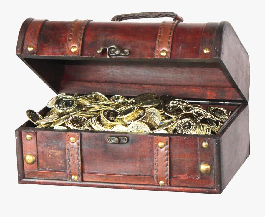 Transparent Open Treasure Chest Clipart - Treasure Chest Transparent Background, Transparent Clipart