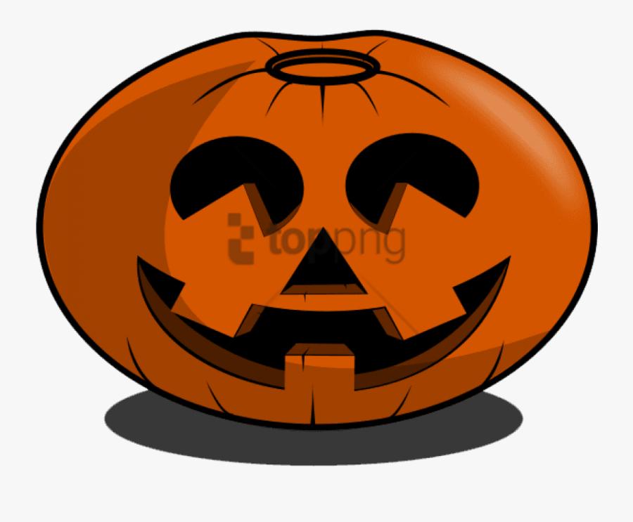 Jack Skellington Jack O Lantern Halloween Clip Art - Friendly Jack O Lantern, Transparent Clipart