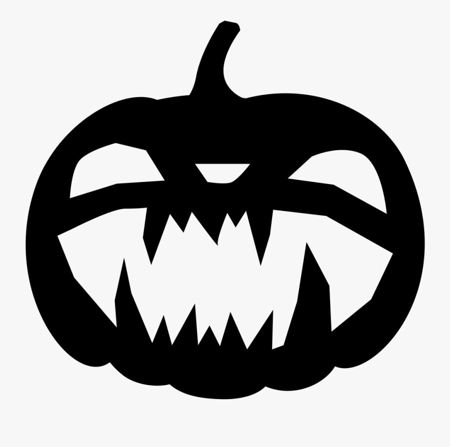 Transparent Jack O Lantern Clipart Black And White - Black Jack O Lantern Png, Transparent Clipart