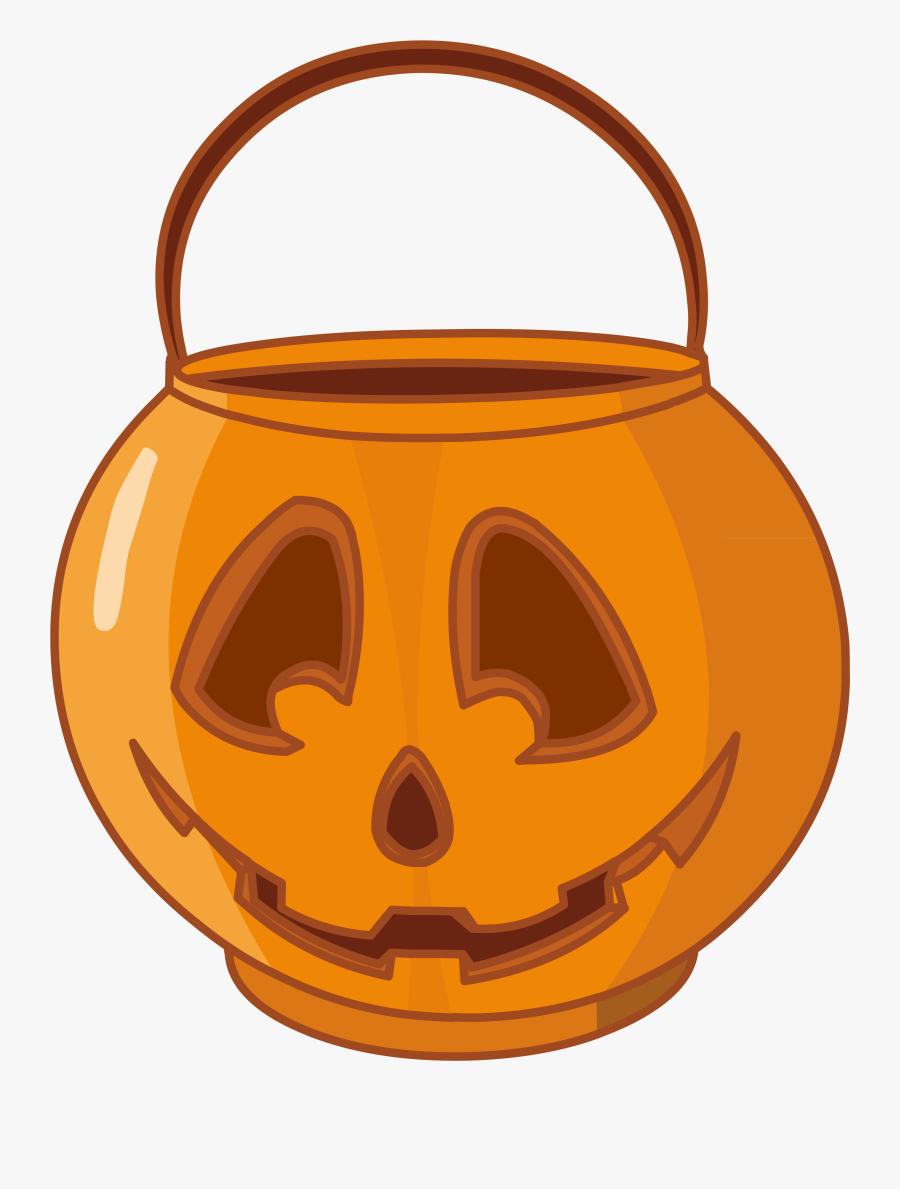 "Jack O"" Lantern Kettle Question Mark Clip Art - Halloween Bucket Png, Transparent Clipart"