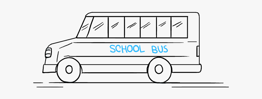 How To Draw School Bus - Model Car, Transparent Clipart