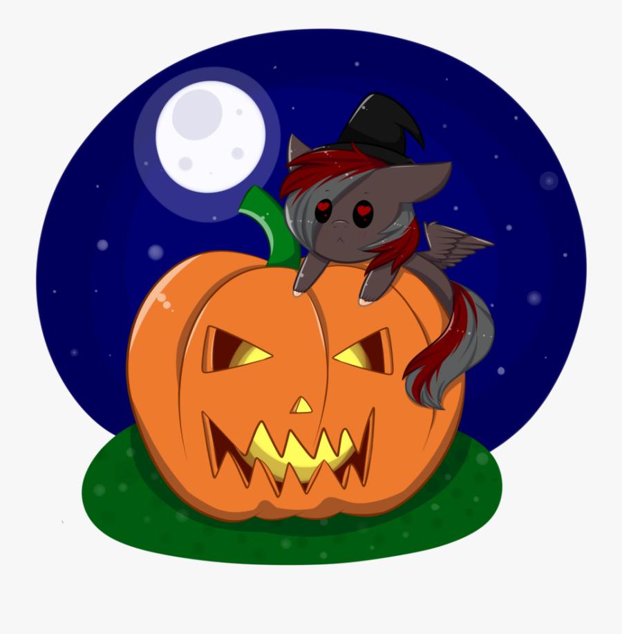 Mimihappy99, Chibi, Commission, Full Moon, Halloween, - Jack-o'-lantern, Transparent Clipart