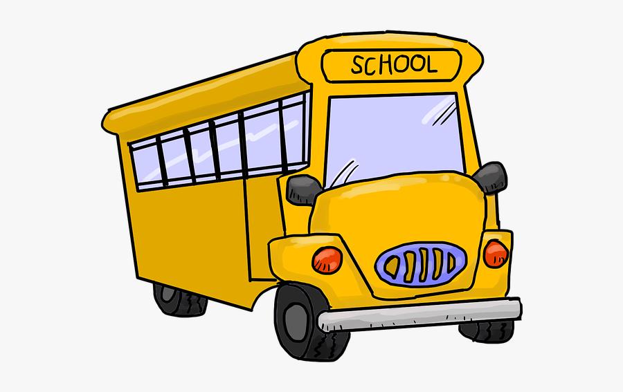 Clip Art Cartoon School Bus - Bus Driver Appreciation, Transparent Clipart