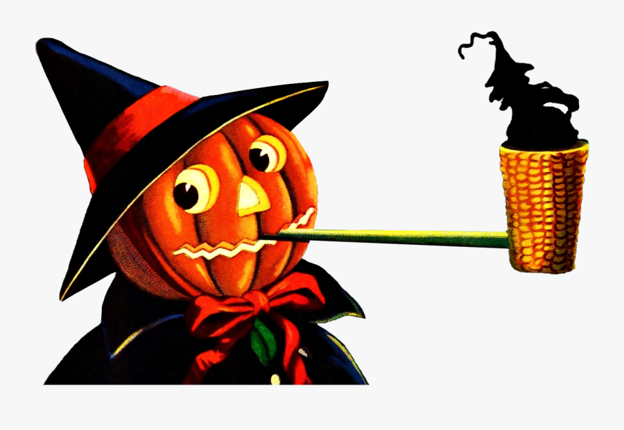 Jack O Lantern Pipe Clipart With A Transparent Background - Jack O Lantern Smoking Pipe, Transparent Clipart