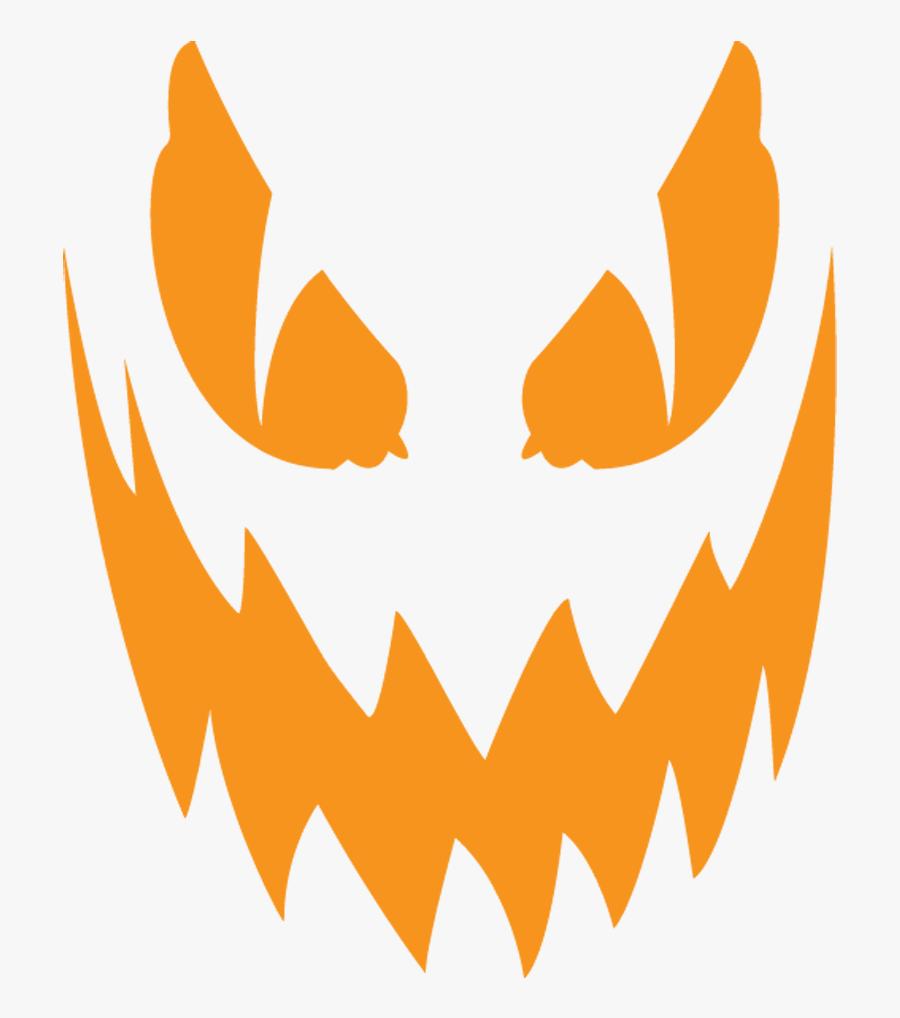 Creepy Clipart Jack O Lantern - Scary Jack O Lantern Clipart, Transparent Clipart