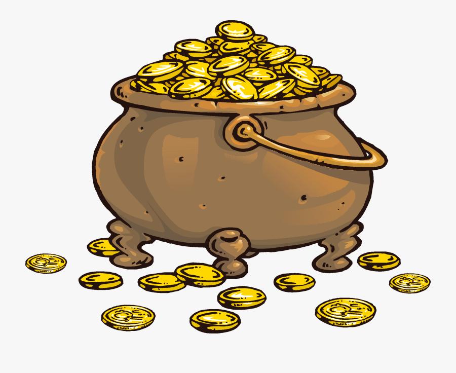Piracy Coin Treasure Clip Art - Gold Coin Treasure Gold Clipart, Transparent Clipart