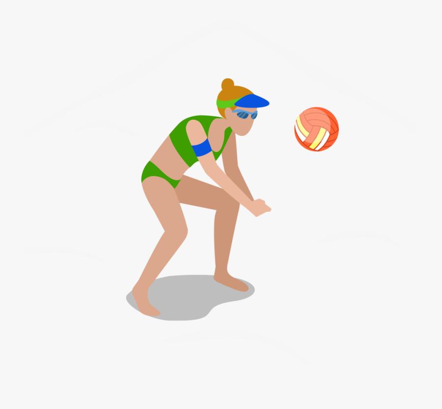 Beach Volleyball Clip Art - Volleyball, Transparent Clipart