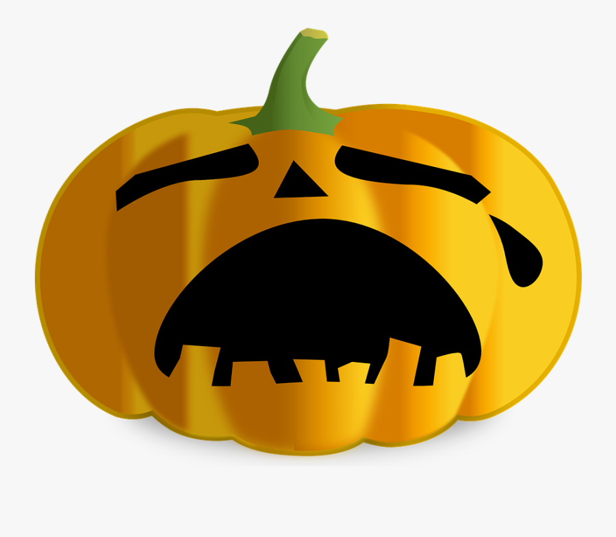 Free Image On Pixabay - Sad Face Jack O Lantern, Transparent Clipart